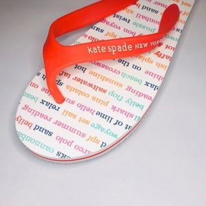 KATE SPADE BEACH SUMMER FLIP FLOPS SANDALS SIZE 6